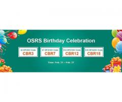 RSorder OSRS Birthday Celebration with up to $18 Voucher for RS 07 Gold is Upcoming